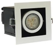 Briaton Светильник светодиодный карданный 1х3Вт, 98х98х120
