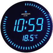 Assistant - AH-1082(blue) настенные сетевые часы