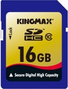 Карта памяти SecureDigital HC 16Gb Class 10 Kingmax (KMX-SDHC10-16GB)