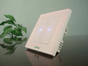 Сенсорный выключатель OneTouch (86TSP2) 2 клавишный розовый