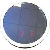 Зеркало с сенсорными часами(круглое), 2025P