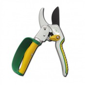 (3140) Секатор контактный с храповым механизмом, 205 мм, изогнутое лезвие, петлеобразная ручка с защитой и возвратно-поворотным механизмом