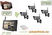 GOSCAM 8107JU Беспроводной комплект видеонаблюдения с функцией просмотра из iPhone / Andriod