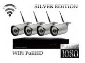 CCTV (8NVR4I2MP-S) Беспроводной комплект видеонаблюдения WiFi FullHD 8NVR4x1080p Silver Edition