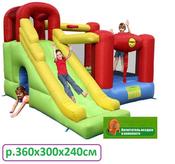 """Надувной батут """"Игровой Центр 6 в 1"""" Happy Hop артикул 9060, штрих-код 6933491990601"""