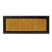 Электронный бейджик 11 X 44 оранжевого свечения - SmartLedBadge