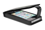 Ainy Кожаный чехол Apple iPhone 4/4S черный