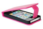 Ainy Кожаный чехол Apple iPhone 4/4S розовый