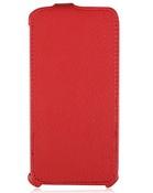 Ainy Кожаный чехол Fly IQ446 Magic красный