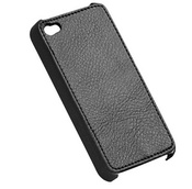 Ainy Задняя кожаная крышка Apple iPhone 4/4S черная