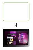 Ainy Защитная пленка Samsung Galaxy Tab 10.1 P7500 глянцевая