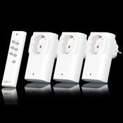 Комплект COCO из 3x розеточные диммеры , 1x пульт дистанционного управления. Модель: COCO APA3-1500R (71066 3)