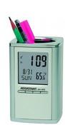 Подставка для ручек с часами: термометр, календарь, будильник, подсветка, ASSISTANT AH-1052