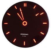 Сетевые настенные часы, пульт ДУ ASSISTANT AH-1083red