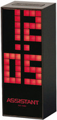 Часы, будильник, календарь, ф-ция snooze, большой светодиодный дисплей ASSISTANT AH-1084Red
