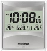 Часы многофункциональные, настенные, будильник, календарь, термометр, гигрометр, ж/к дисплей ASSISTANT AH-2001