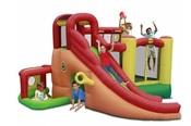 Надувной батут с горкой Happy Hop Игровой центр 11 в 1 -9406N