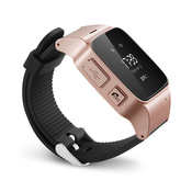 Умные часы с GPS трекером Smart Watch D90-S (цвет - розовое золото)