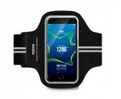 """NEXX. Спортивный наручный чехол для смартфонов с экраном 5,5"""", лайкра, черный"""