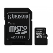 microSDHC Kingston 16Gb (Class 4 ) с адаптером SD
