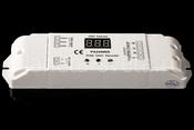 3-х канальный драйвер, 12-24V DC, 432W, 18A LED RGB DMX decoder Euchips  DMX24500A