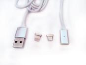 Кабель-переходник to USB/micro USB Cable с магнитной вставкой, 1м, для iPhone5-7+, iPad, iPod, Samsung, HTC и др.