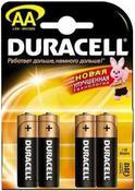 Батарея AA DURACELL LR6-4BL BASIC (80/240/20400)
