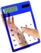 Сенсорный прозрачный калькулятор. Модель: E4118B