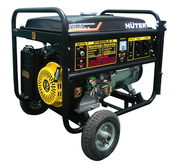 Электрогенератор HUTER DY8000LX-3 с колёсами (64/1/28.)