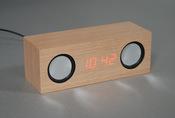 Миниатюрные стереоколонки со встроенным усилителем, цифровыми часами и будильником. Модель: EN1804