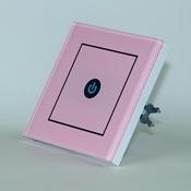 Сенсорный выключатель радиоуправляемый OneTouch (86RSP1) 1 клавишный розовый