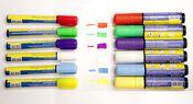 Комплект неоновых маркеров 8 шт. 10 мм, FlashPen-100