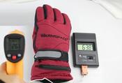 Перчатки с подогревом WarmSpace G0120C размер XL, Цвет: красный