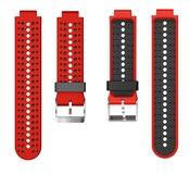 Ремешок для часов Garmin Forerunner 220/225/230/235/630/735XT красно-черный