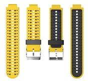 Ремешок для часов Garmin Forerunner 220/225/230/235/630/735XT желто-черный
