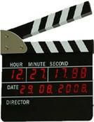 Часы «Кинематографическая хлопушка». Модель: HY07LED017