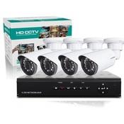 Комплект видеонаблюдения H.View DVR-8CH 4 камеры 700TVL 960H v.1