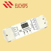 DMX 4-х канальный драйвер, 12-24V DC, 480W, 20A LED RGB DMX decoder Euchips PX24500D