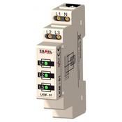 Сигнализатор световой желтый 230VAC IP20 на DIN рейку Zamel (LKM-03-30)