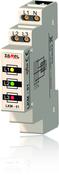 Сигнализатор световой 3Ф желт-зел-красн IP20 на DIN рейку Zamel (LKM-01-40)