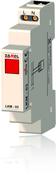 Сигнализатор световой красный 230VAC IP20 на DIN рейку Zamel (LKM-03-10)