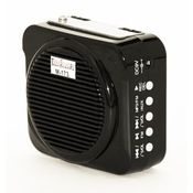 Terrasound M-173 (Черный) Усилитель голоса мегафон поясной 8Вт (мегафон, встр аккум, FM, USBSD mp3 пл, запись, вх AUX, сумочка, микр, зу) (M-173b)
