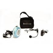 Terrasound M-191 Усилитель голоса мегафон поясной 10Вт (комплект: мегафон, встроенный Li аккумулятор, вход AUX, сумочка, микрофон, зу)