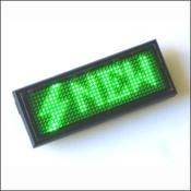 KIT MA1238G Электронный бейджик 12 X 38 зеленого свечения от Мастер Кит