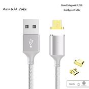 Кабель-переходник to USB/micro USB Cable с магнитной вставкой, 1м, для Samsung, HTC и др.