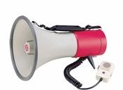 Terrasound ЭМ-25са (красный) ручной мегафон 25Вт (50Вт), выносной микрофон, сирена, Li аккумулятор, разъем 12В