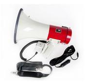 Terrasound MG-220DSD/red Мегафон ручнойнаплечный 25Вт, выносной микрофон, сирена, внешнее питание 12В
