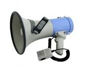 Terrasound MG-220SWL/blue ручной мегафон 25Вт, микрофон-тангента, сирена, свисток, Li аккум. 12V, разъем 12В