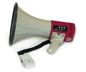 Terrasound MG-66USB/red мегафон 25Вт, выносной микрофон, сирена, MP3 плеер (USB, SD), 8xC, внешнее питание 12В
