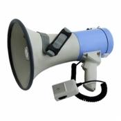 TERRASOUND MG-220/blue мегафон 25Вт, выносной микрофон, сирена, 8xD
